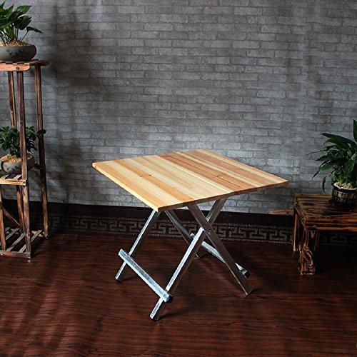 GAOJIAN Table Pliante en Bois Massif Espace d'économie Table carrée Portable Table de cuisinière Table de Salle à Manger à la Maison Long 58Cm Large 58Cm High 56Cm
