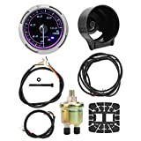 Calibro motore, Akozon 12V Calibro elettronico sensore sensore di temperatura Strumento da corsa universale modificato(OIL PRESS)