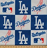Fleece (not for masks) Los Angeles Dodgers MLB Baseball Sports Fleece Fabric Print by The Yard s6691bf