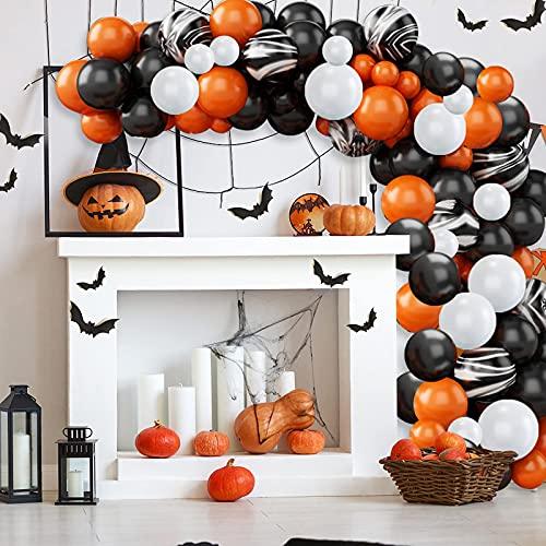 Globos Halloween Decoración Fiesta Globos Látex Halloween Set Decoración Halloween Kit Globos Halloween Estilo Araña Globo Naranja Globo Negro