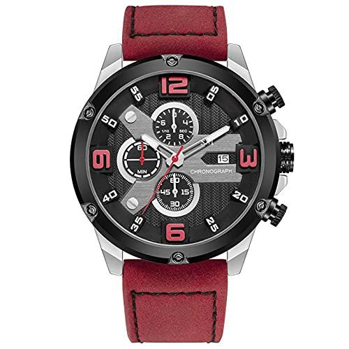 WNGJ Hombre Relojes Reloj De Negocios Impermeable Reloj Hombre Calendario Casual Cuarzo Relojes Reloj De Seis Manecillas Exquisita Caja De Embalaje Red
