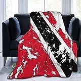 Trinidad & Tobago-Flagge, ultraweich, Micro-Fleece-Decke, für alle Jahreszeiten, warme Decke für Bettwäsche, Sofa & Reisen, 127 x 101 cm