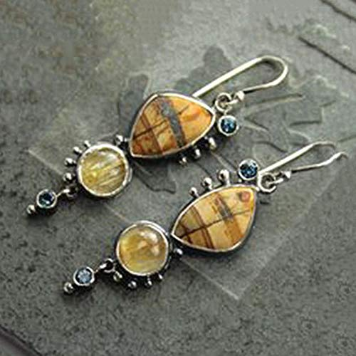 Erin Retro Irregular Brown Earrings Ms. Gypsy Indian Synthetic Shell Long Suspended Resin Earrings Tribal Jewelry O4D292