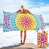 Hogar y cocina Baño Textiles de baño Toallas Toallas de playa Quick Dry Beach Towel Composition with Dots Night Sky Theme Abstract Style Arrangement Cosmos Concept Microfiber-Sand Free-Lightweight Thi