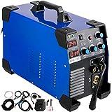 VEVOR Soldadora de Inversor Portátil MIG-160 3 en 1, Mig Welder, Máquina Soldadora, MIG MMA TIG IGBT DC, Inversor Soldador, Pantalla Digital, Azul