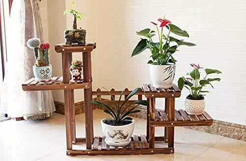 Support de stockage de pot de fleur de présentoir de plantes en bois de cadre de bonsaï, pour la décoration intérieure et extérieure de support de terrasse de jardin