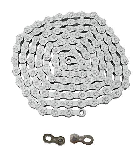 P4B   Hochwertige Anti-Rost Fahrradkette 9-Fach   Rust Buster   1/2 x 11/128   Nietenlänge = 6,4 mm   116 Glieder   Inkl. QR9-Verschlussglied