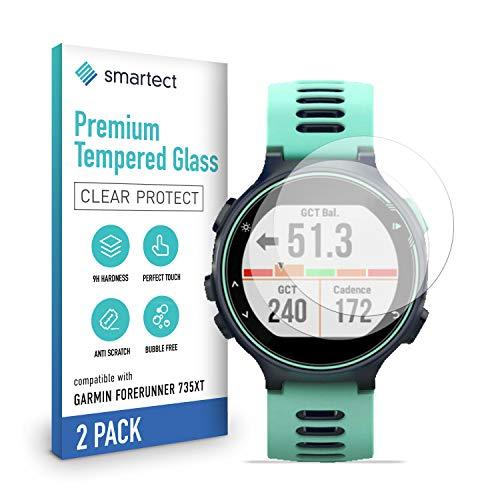 smartect Schutzglas kompatibel mit Garmin Forerunner 735XT [2 Stück] - Tempered Glass mit 9H Festigkeit - Blasenfreie Schutzfolie - Anti-Kratzer Bildschirmschutzfolie