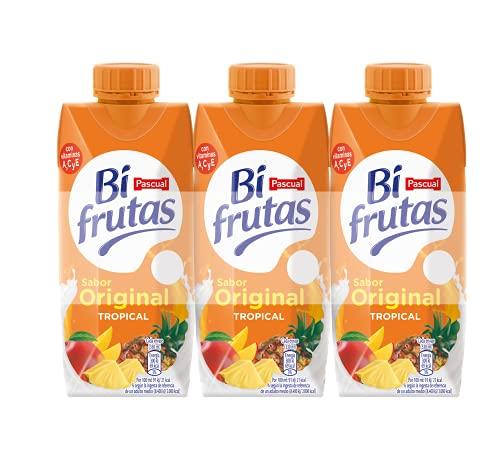 Bifrutas Tropical Bebida Refrescante con Leche y Zumo de Frutas,