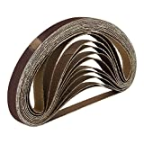 96 bandas de lija de tela – 13 x 457 mm – grano 16 x grano 40 – grano 60 grano 80 grano 120 grano 180 grano 240 / bandas de lija / tela de lija