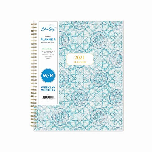 """Price comparison product image Blue Sky 2021 Weekly & Monthly Planner,  Flexible Cover,  Twin-Wire Binding,  8.5"""" x 11"""",  Ava (122190)"""