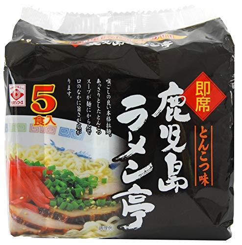 【ケース販売】インスタント 袋麺 ヒガシフーズ 即席鹿児島ラーメン亭とんこつ5食パック×6袋