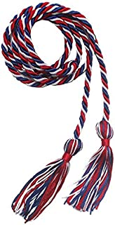 Annhiengrad Three-color Graduation Honor Cords (Red,White and Royal Blue)