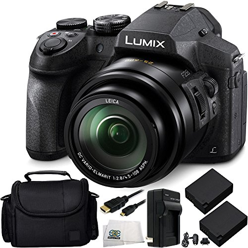 Panasonic Lumix DMC-FZ300 Digital Camera 8PC Accessory Kit Includes 2 Replacement BLC-12 Batteries, AC/DC Rapid Home & Travel Charger & More