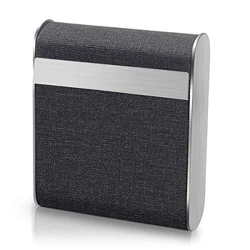 Fodlon Zigarettenetui Edelstahl,Zigarettenbox Aluminium Etui Box Behälter mit Magnetverschluss für 20 Zigaretten Zigarettenschachtel Schachtel-Schwarz