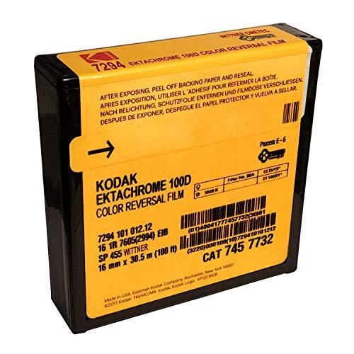 Kodak 7294 Ektachrome - Reversión de color de 16 mm, 100 D, 33 m)
