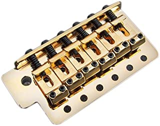 Fender Vintage-Style Strat Bridge Assembly with 2-3/16-Inch Spacing - Gold