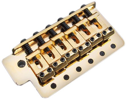Fender 005-3275-000 Vintage-Style Strat Bridge Assembly, (2-3/16'' Spacing), Gold