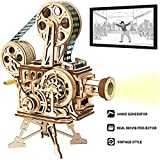 ROKR Vitascope Holzpuzzle, Mechanische Modellbausätze, Technischer Modellbausatz, Hand-Generator...
