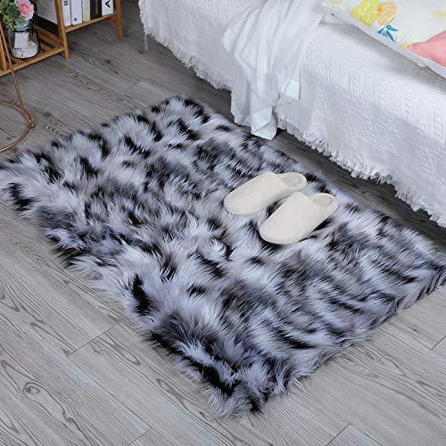 baratos y buenos HEQUN Fleece Fleece Elegante Alfombra Cabello largo Mullido Excelente piel … calidad