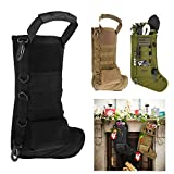 SMILECUP Tactical Christmas Stocking Molle Pouch Ruck up Hanging Christmas Decoration Hunting Military Storage Bag (Tan)
