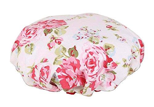 Bonnet de douche multifonction double couche, fleur-2