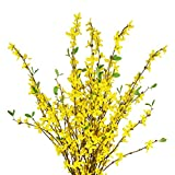 Sunm boutique Artificial Orchids Flowers, 3 Pcs Silk Fake Orchids Flowers in Bulk Orquideas Flowers Artificial for Indoor Outdoor Wedding Home Office Decoration Festive Furnishing Yellow