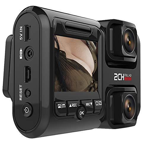 Dashcam,1080P Full HD WLAN & GPS Vorne und Hinten Dual Kamera Autokamera mit SONY323 Lens,HDR Nachtsicht,Akku,Loop-Aufnahme,Bewegungserkennung,Audio,G-Sensor für Auto Parküberwachung,WiFiandGPS