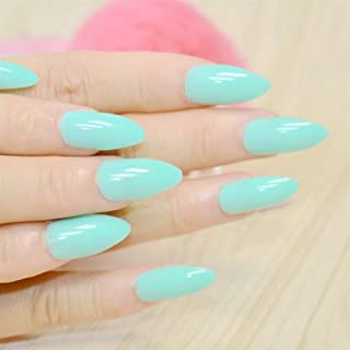 Dusty Cedar Fashion Stiletto False Nails Pointed Sharp Candy Red Nails for Daily Wear On The Nail Tree 24pcs (Color : F054 151P)