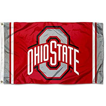 College Flags & Banners Co Ohio State Buckeyes Field Stripes Flag