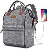 Rucksack Damen | Weit Geöffnetes Letop Rucksack mit USB Ladeanschluss | für Uni Reisen Freizeit Job | mit Laptopfach und Anti Diebstahl Tasche (15,6