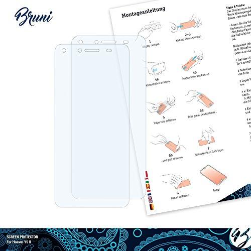 Bruni Schutzfolie kompatibel mit Huawei Y5 II Folie, glasklare Displayschutzfolie (2X) - 2