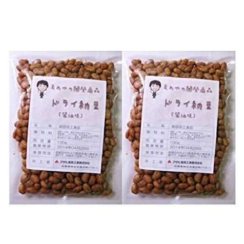 豆力 国内産 ドライ納豆(醤油味) 100g×2袋 ポッキリ!セット