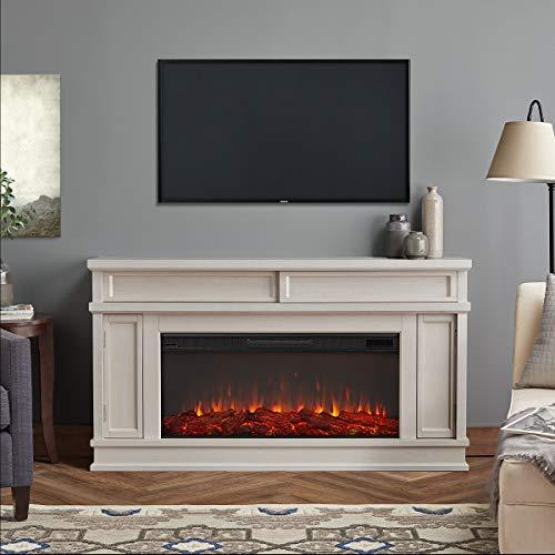 Real Flame Torrey Electric Fireplace, Bone