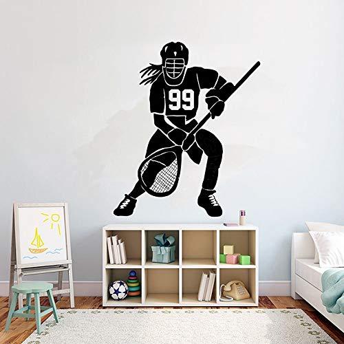 Geiqianjiumai Hockey Logo Custom Hockey ihre Nummer Dekoration Kinder Sport wandaufkleber Teen...