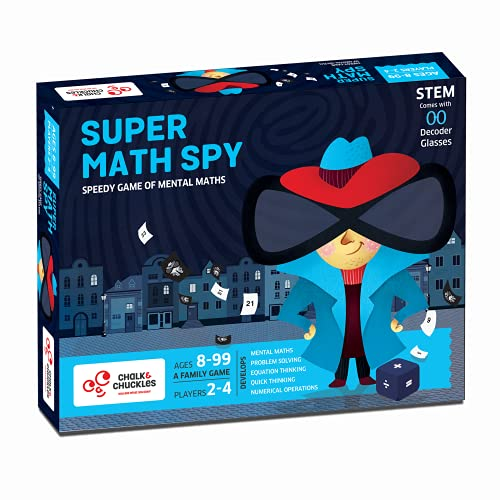 Chalk and Chuckles Super Math Spy - A Mental Math Educational Game for Kids at Home, Ages 8, 9, 10 Year Old and Up, STEM Toy, Gifts for Boys & Girls, Grade 2 & Up