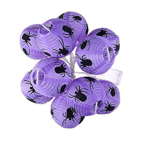 LKYG Spinnenschnur-Licht-Halloween-Dekorations-Lichter mit 10 LED-Perlen führten Licht,Spider
