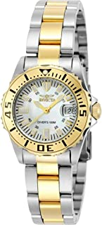 Women's 6895 Pro-Diver Stainless Steel 18k Yellow Gold-Plated and Mother-of-Pearl Bracelet Watch