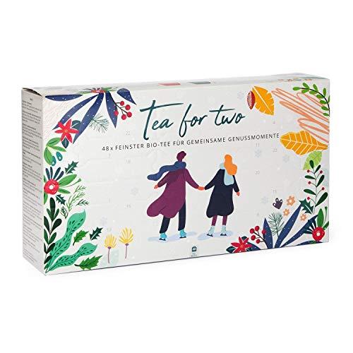 """BIO Tee Adventskalender für Zwei \""""Tea for Two\"""" - 48 Premium Tees aus besten BIO Zutaten"""