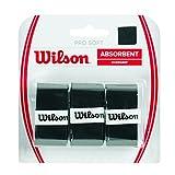 Wilson Grip WRZ4040BK Impugnatura Pro Soft Overgrip, Unisex, Nero, 3 Unità...