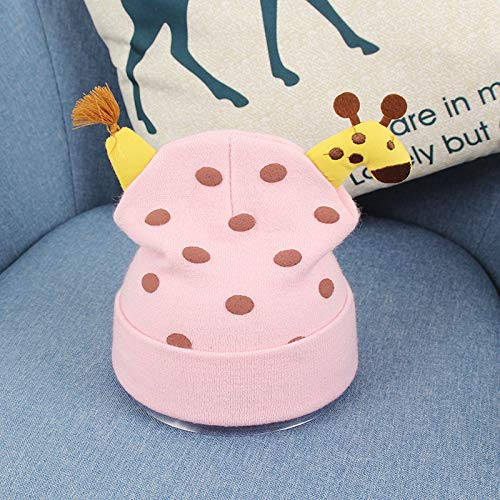 Fashion items Baby knitted hat autumn and winter new super cute cute deer dot cotton line cartoon baby hat newborn tire cap