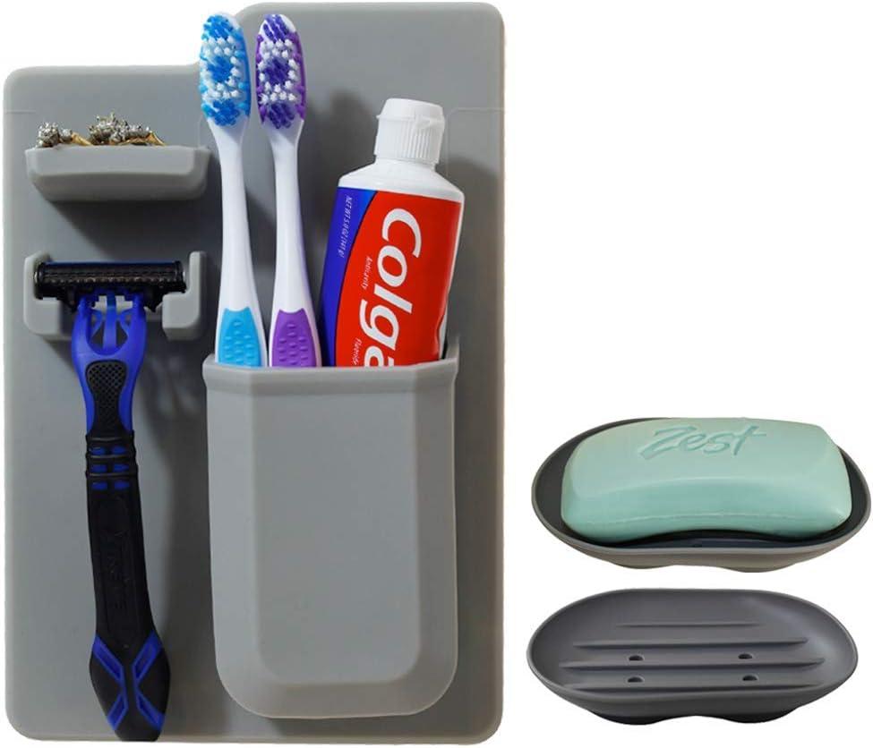 OrganizeHQ Razor Toothbrush Holder Bathroom Mail order 2021 new Shower Silico for