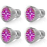 Led Grow Light Bulb,Derlights® 40W Equivalent E27 Full Spectrum Plant Grow Bulb, SMD2835