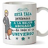 MUGFFINS Abogada Tazas Originales de café y Desayuno para Regalar a Trabajadores Profesionales - Esta Taza Pertenece a la Mejor Abogada del Universo