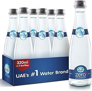Al Ain Zero, Drinking Water in Glass Bottle - 330 ml (Pack of 6)