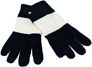 Kate Spade Color Block Gloves,Black/Cream