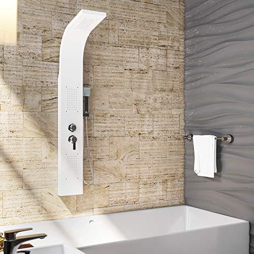 OIMEX CALM Duschpaneel Duschgarnitur Duschsystem Duschsäule Wasserfall Regendusche, Weiß