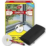 PIC mosquitera para ventana - 130 cm x 150 cm - mosquitera con cinta adhesiva - mosquitera sin perforar