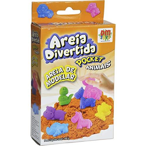 Massinha Areia Divertida Pocket Animais - 150grs - Dm Toys
