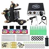 Dragonhawk Complete Tattoo Kit 1 Dragonhawk Mate Tattoo Machine Gun Immortal Tattoo Inks Power Supply Needles Grips Tips 1013GD